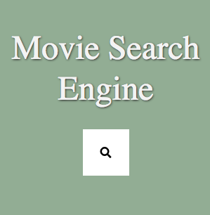 screenshot of movie search engine